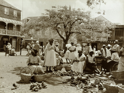 The Market Place, Grenada, British West Indies, 1934.