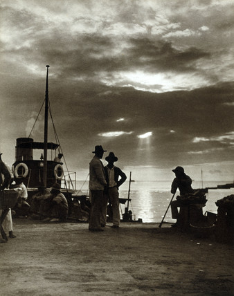 A tropical sunset, Trinidad, British West Indies, 1934.