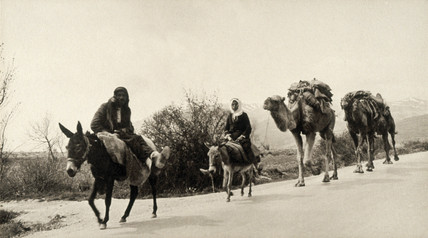 Across the Lebanon mountains, Syria, 1932.