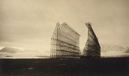 Amundsen's airship hangar, Spitzbergen, Norway, 1937.