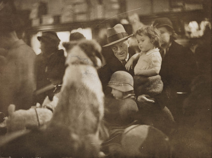 Christmas shopping scenes at Selfridges, London, 19 December 1933.