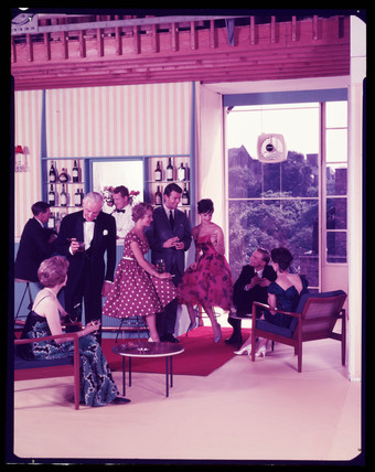 A cocktail party, 1960s.