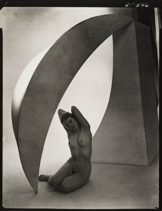 Nude study: woman with geometric forms, 1960s.