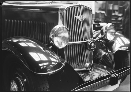 Front view of a Hanomag motor car, c 1934.