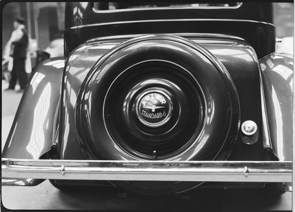 Rear view of an Adler Standard 6 motor car, c 1934.
