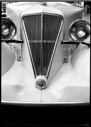 Front view of an Opel motor car, c 1934.