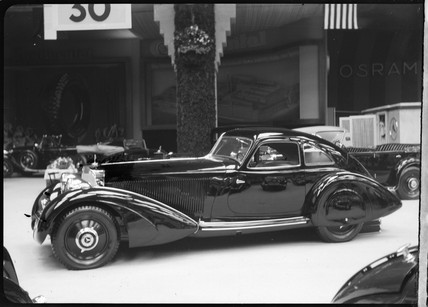 Mercedes Benz motor car at a motor show, c 1934.