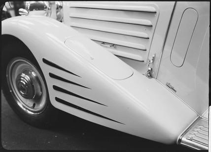 Detail of a motor car wheel, c 1934.