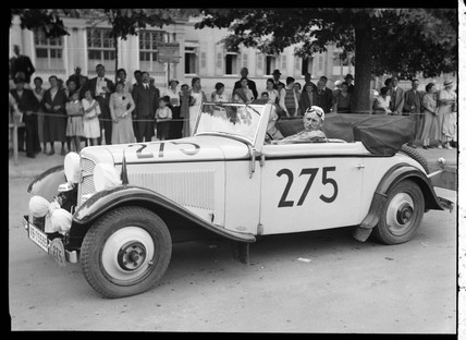 A motor racing car and driver, Germany, c 1934.