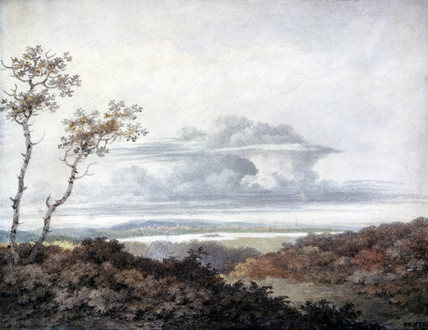 Rural landscape and cloud study by Luke Howard, March 1849.
