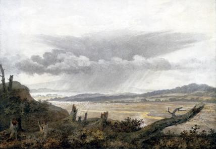Landscape and cloud study by Luke Howard, c 1808-1811.