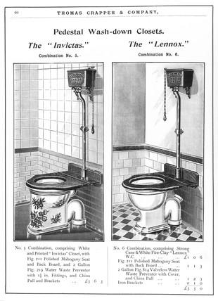'Pedestal Wash-down Closets. The 'Invictas'