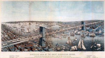 Brooklyn Bridge, New York City, 1883.