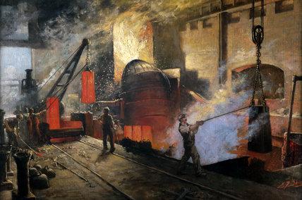 Manufacturing Besemer Steel, 1914-1918.
