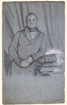 Charles Babbage, mathematician and computer pioneer, c 1844.