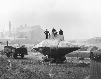 'Resurgam', the first mechanically propelled submarine, 1879.