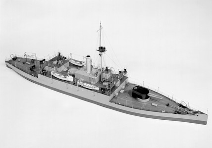 H.M.S. 'Humber', 1914. Model. During WWI a