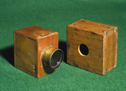 Two W H F Talbot 'mousetrap' cameras, c 1835.