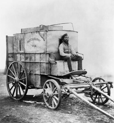 Photographic van, 1855.