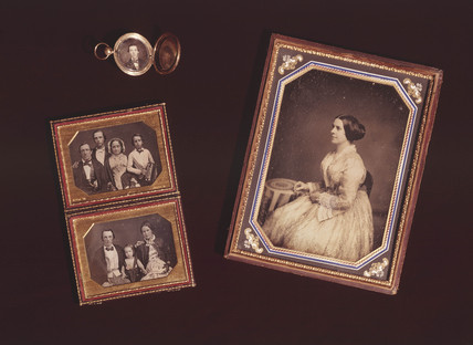 Four daguerreotypes in frames, c 1840s.