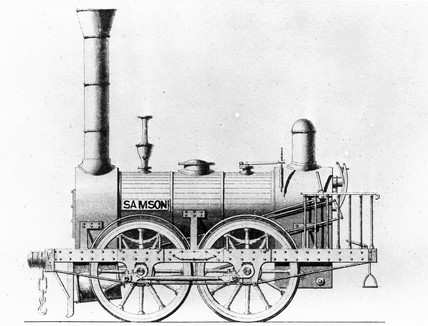 'Samson' locomotive, c 1830s. Drawing of an