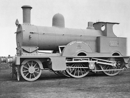 Two photographs of Webb's compound locomoti