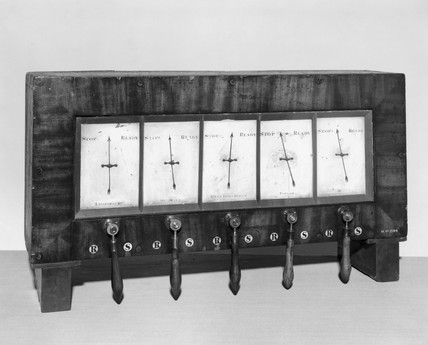 Train signalling instrument, 1840.