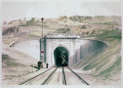 West entrance to Box Tunnel on the Great Western Railway, 1846.
