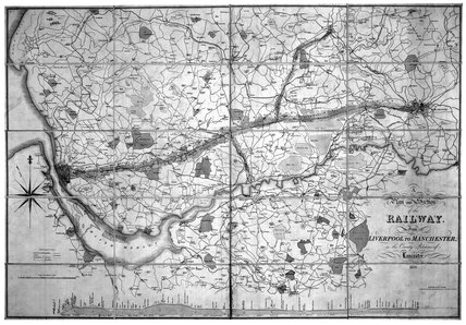 Maps relating to the Liverpool & Manchester Railway, early 19th century.