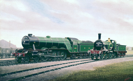 Two locomotives of the Great Northern Railway (GNR), late 1920s.