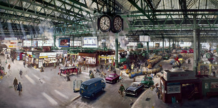 Waterloo Station, Terence Cuneo, 1967 (Science Museum / Science & Society)