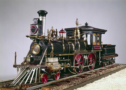 American 4-4-0 locomotive, 1875.