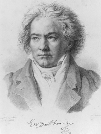 Ludwig van Beethoven, German composer, 1817.