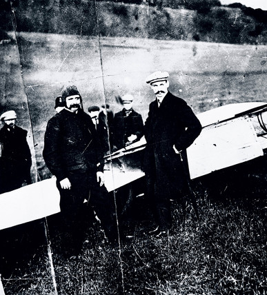 Louis Bleriot, French aviator, 1909.