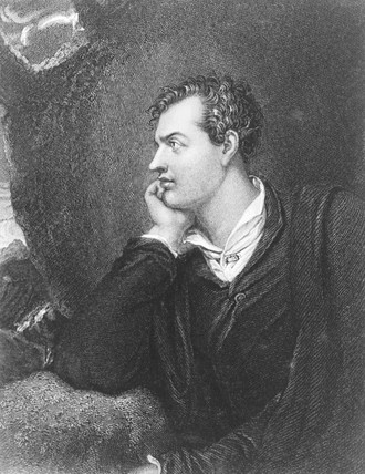 Lord Byron, English poet, c 1815.