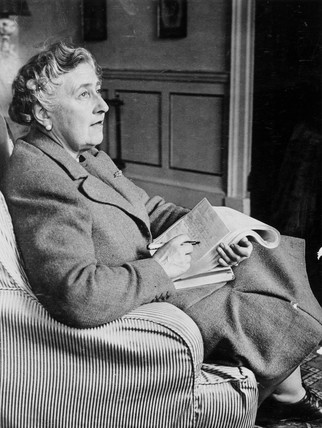 Agatha Christie, English crime writer, 9 March 1946.