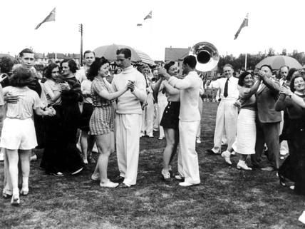 Butlins holiday camp, 8 July 1939.