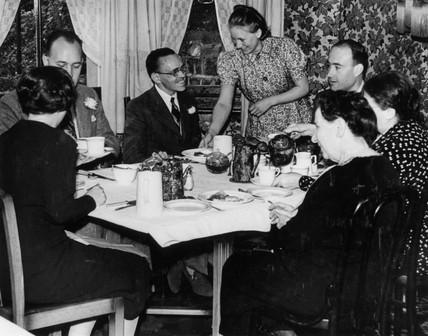 Breakfast in a boarding house, 5 August 1939.