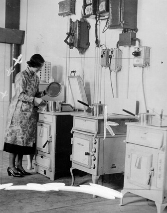 Demonstration kitchen at the Electrical Asociation, 2 January 1939.