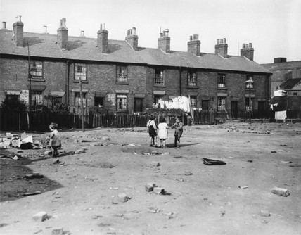 Slum houses in Derby, 18 October 1937.