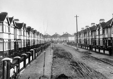 New suburban semi-detached municipal housin