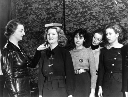 Training fashion models, November 1936.