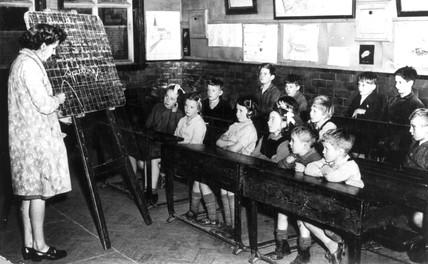 Clasroom scene at Llawrybetws School, Merioneth,  Wales, c 1930s.