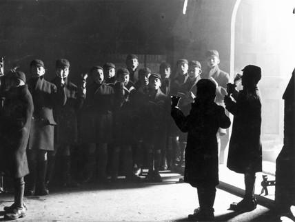 Orphan carol singers, 13 December 1930.