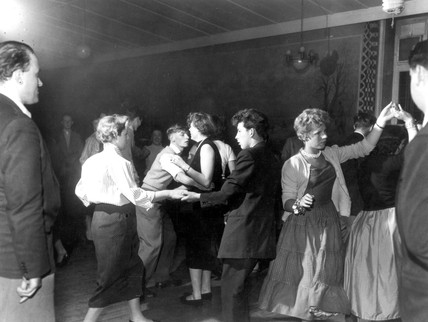 Jive dancing at a Bolton jazz club, 29 June