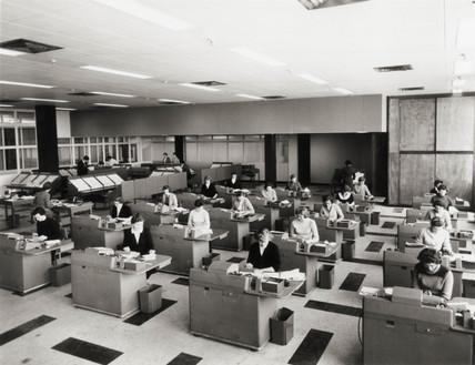 Ministry of Transport (MOT) office, 29 May 1958.