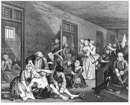 'Scene in Bedlam', 1735.