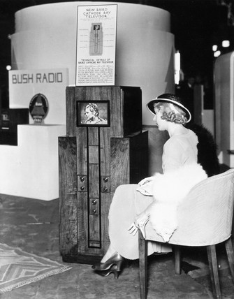 Baird television exhibit at Radiolympia, London, c 1930.