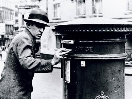 Posting a letter, 3 September 1936.