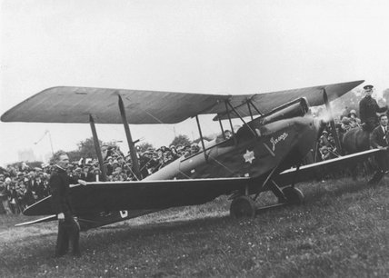 Amy Johnson's single seater de Haviland Moth biplane, 'Jason', 1930.